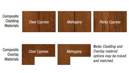 Wood Specie Options for custom wood garage doors